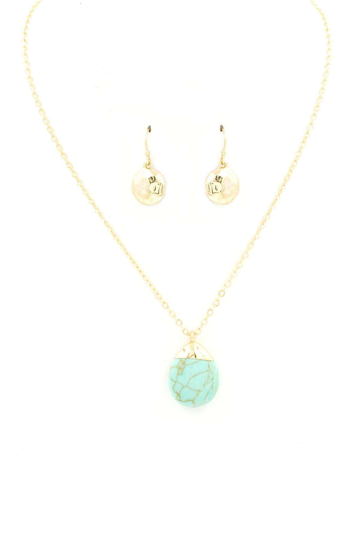 teardrop pendant necklace set necklaces