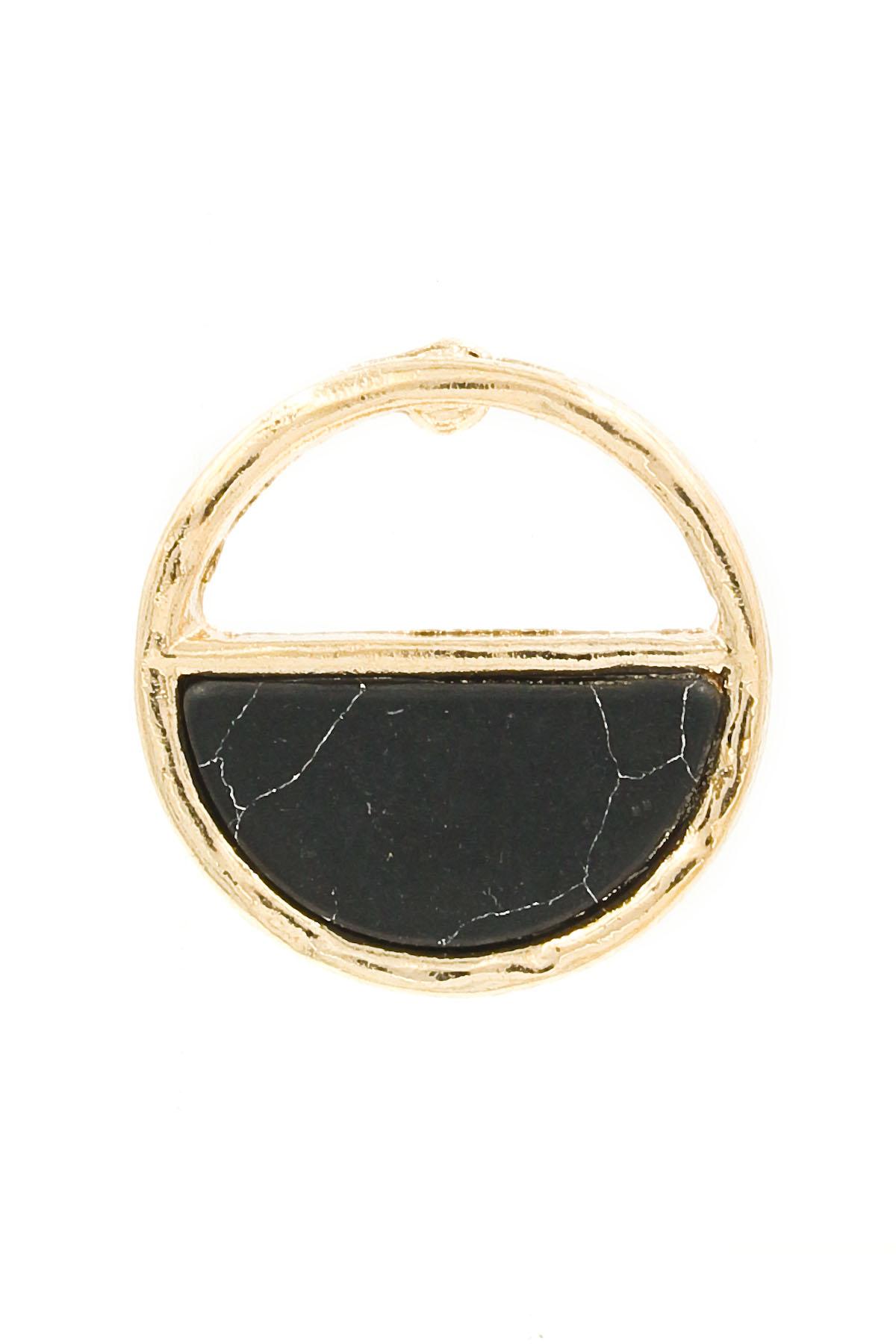half circle stud earrings