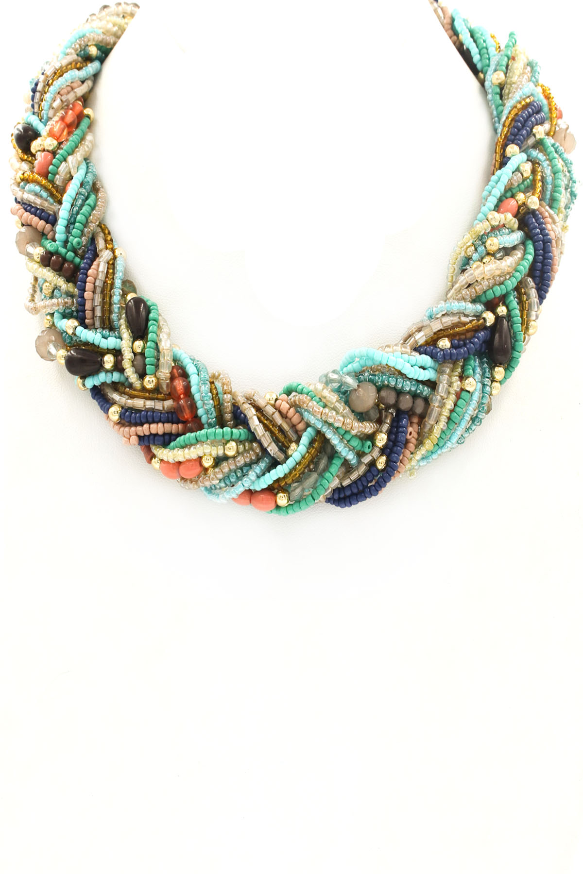 Braided Seed Bead Necklace - Necklaces