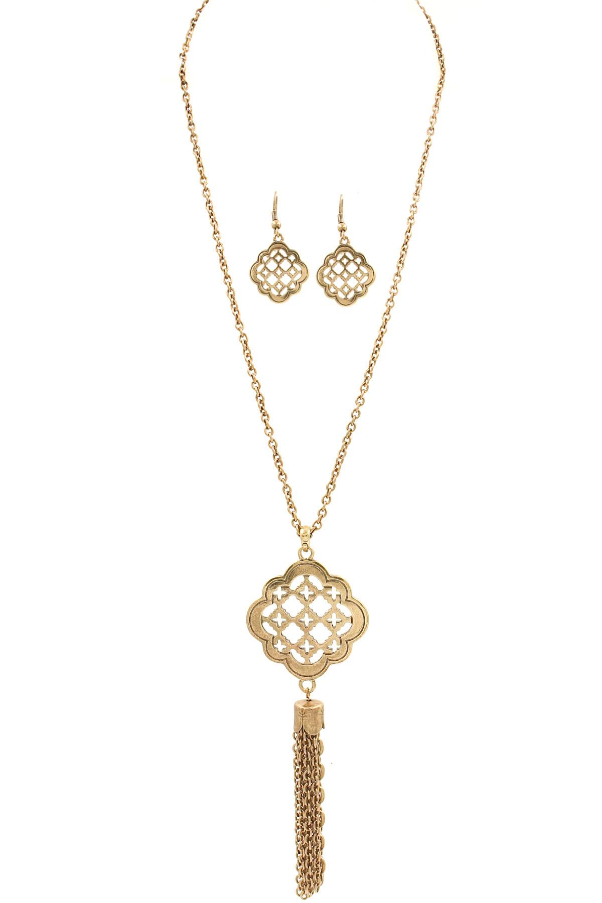 Quatrefoil Pendant Chain Tassel Necklace Set  Necklaces. Golden Dial Watches. Where To Buy Anklets. Golden Coin Necklace. Large Silver Bangle Bracelets. Lei Necklace. Altitude Watches. Engravable Necklace. Pink Quartz Pendant