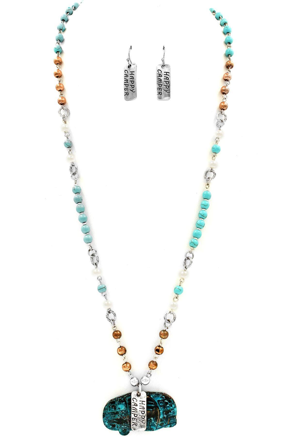happy cer rv pendant bead necklace necklaces
