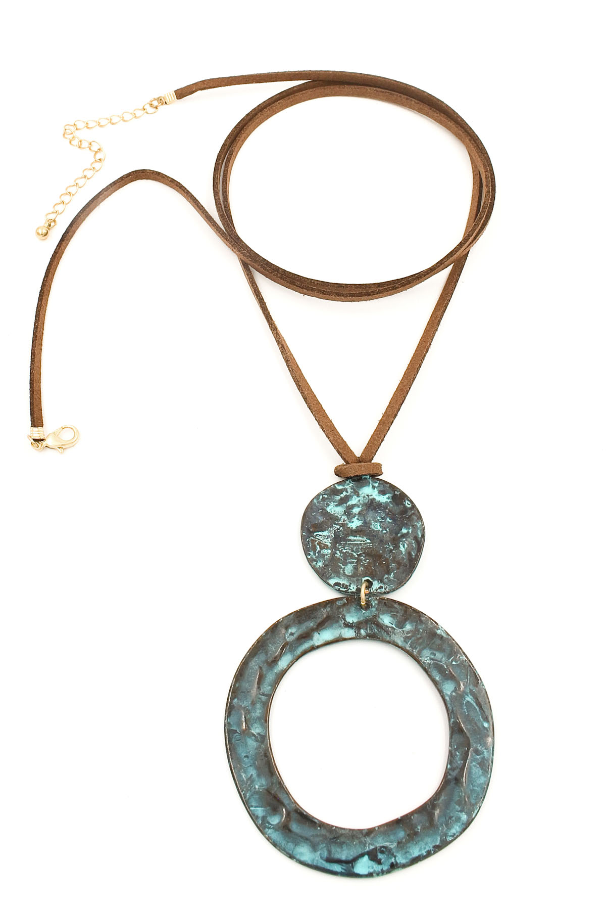 hammered ring disc pendant necklace necklaces