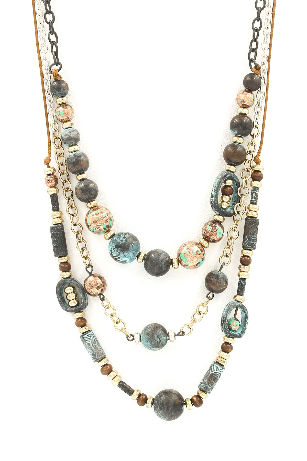 layered bead necklace set