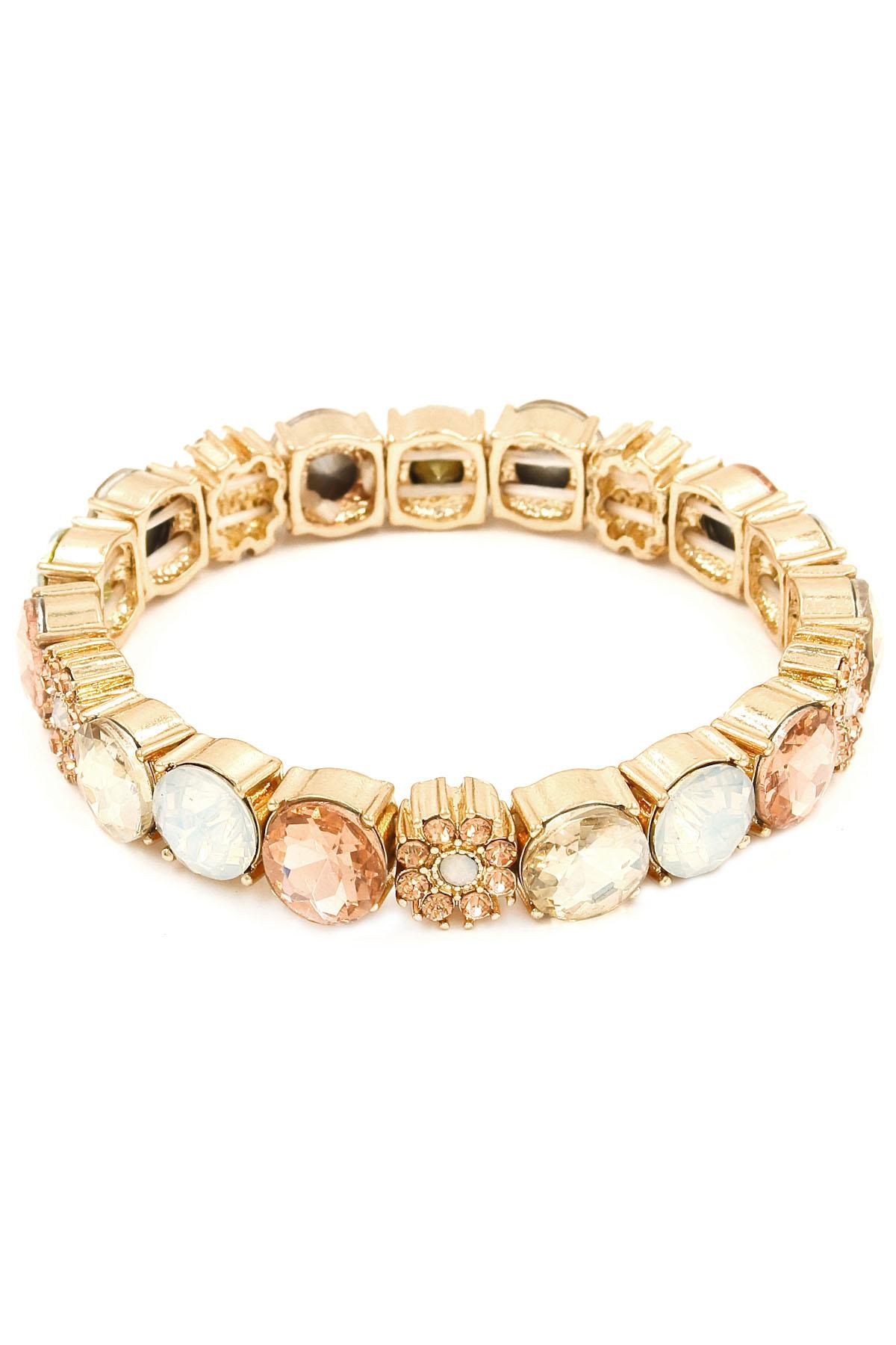 glass flower stretch bracelet bracelets