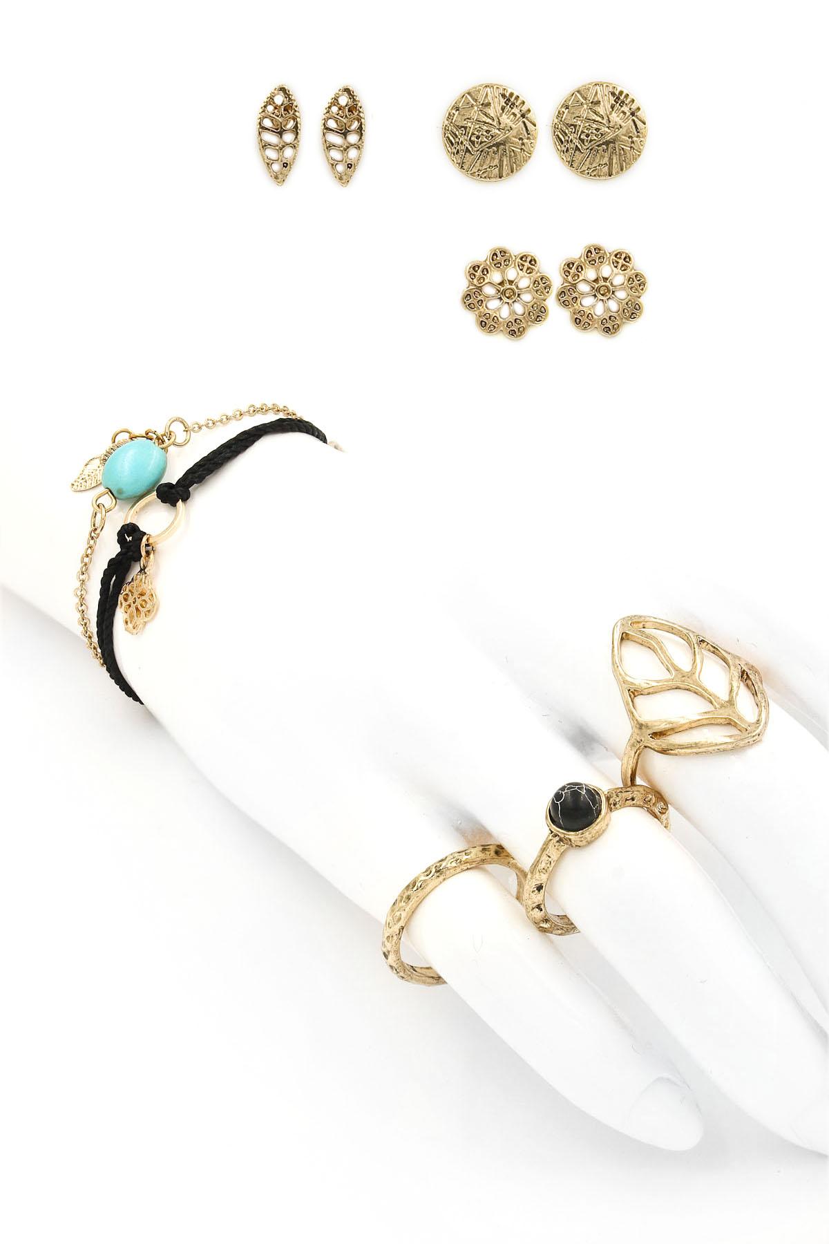 Earring/Ring/Bracelet Set - Rings
