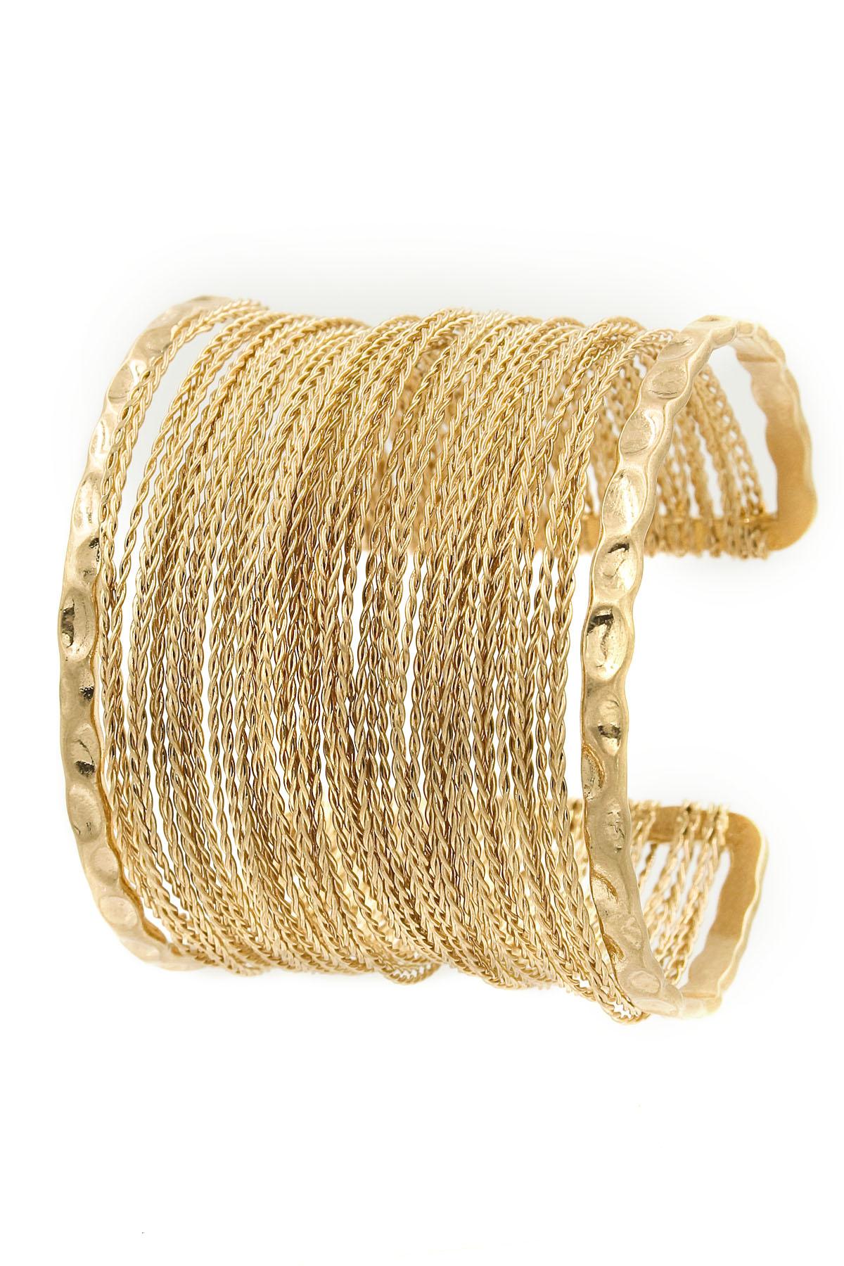 Metal Wire Cuff Bracelet - Bracelets