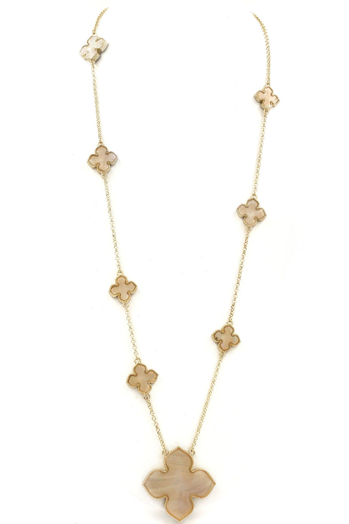 Quatrefoil pendant station necklace necklaces quatrefoil pendant station necklace aloadofball Choice Image