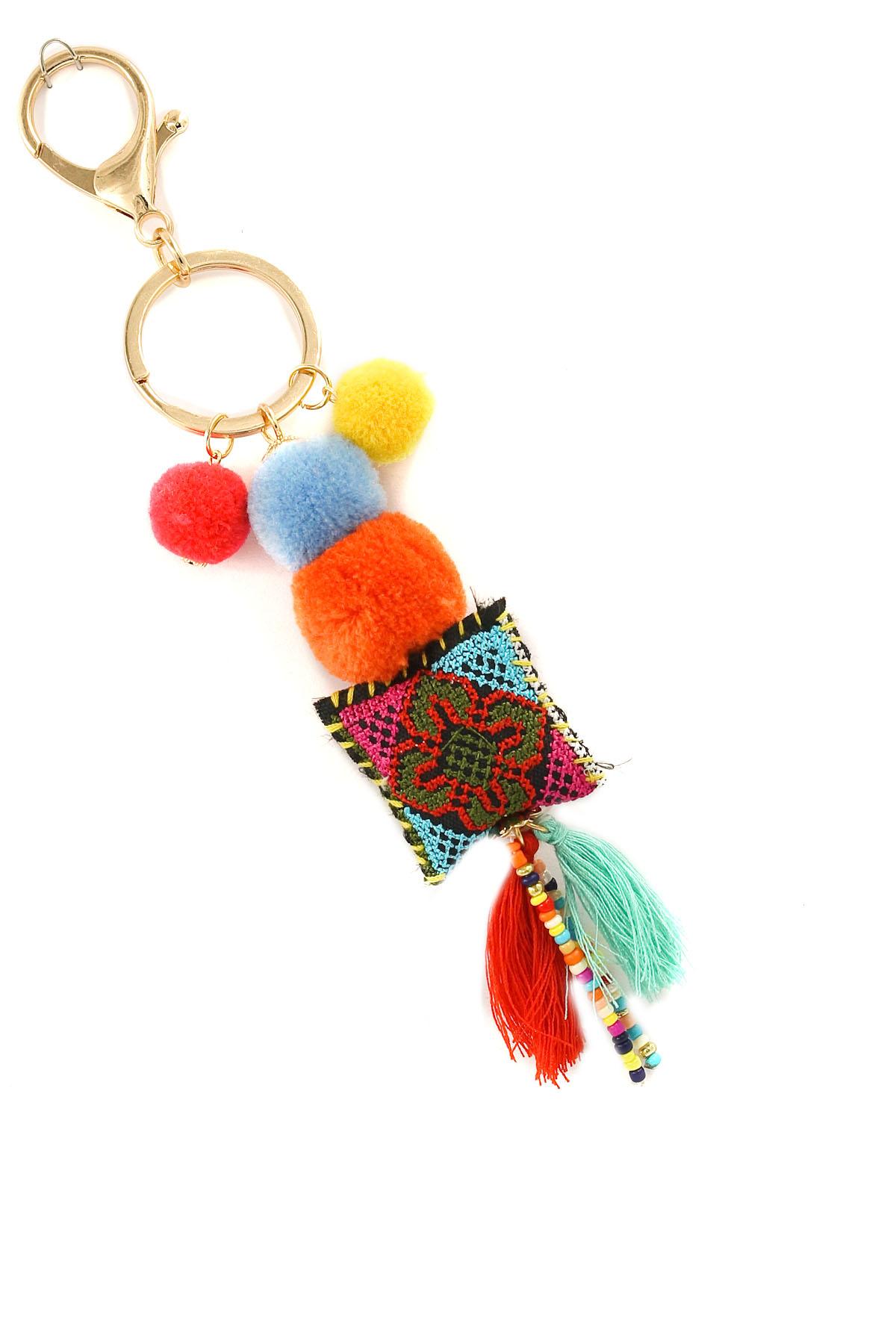 Pom Pom Tassel Key Chain - Key Chains