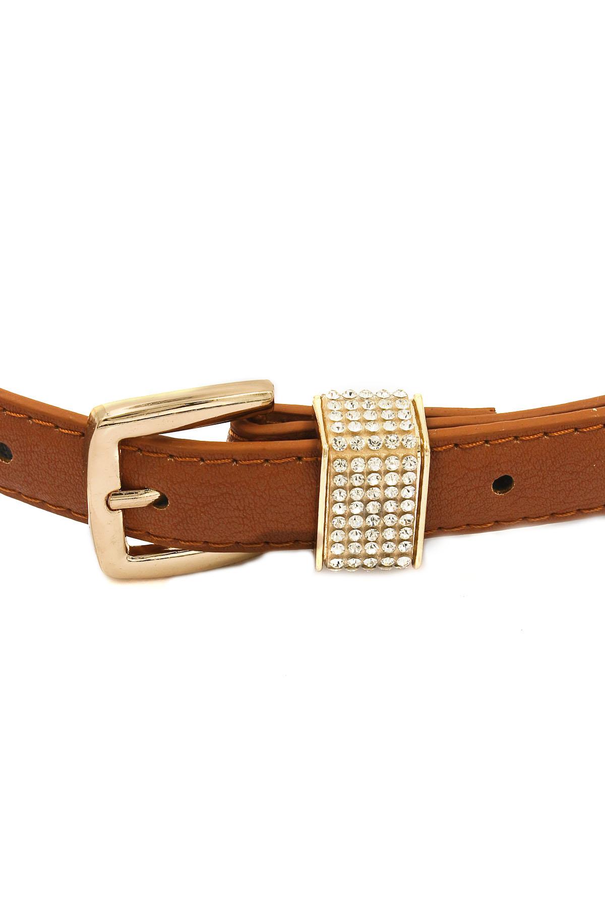 rhinestone buckle faux leather belt belts