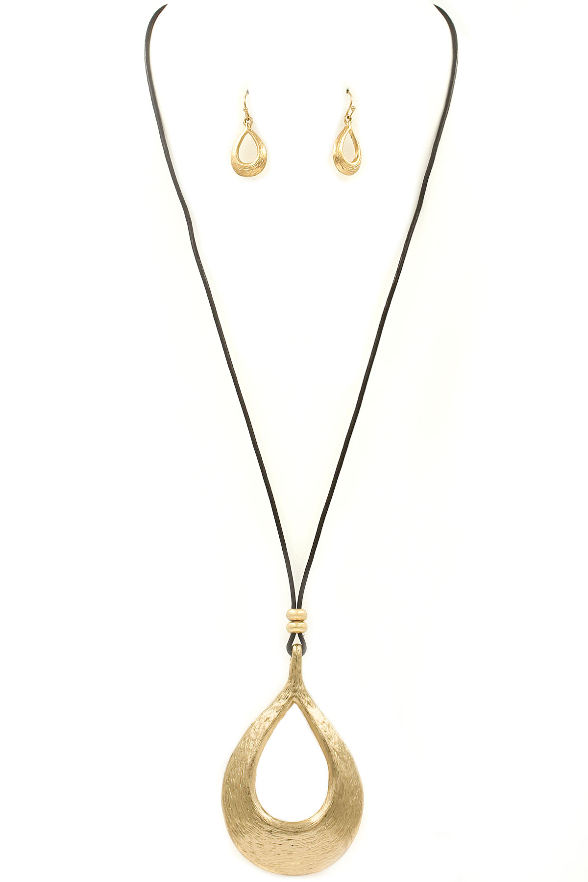 full set teardrop pendant. Metal Teardrop Pendant Necklace Set Full P