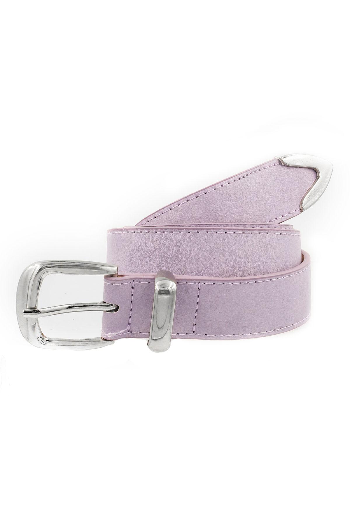 Metal Buckle Faux Leather Belt - Belts