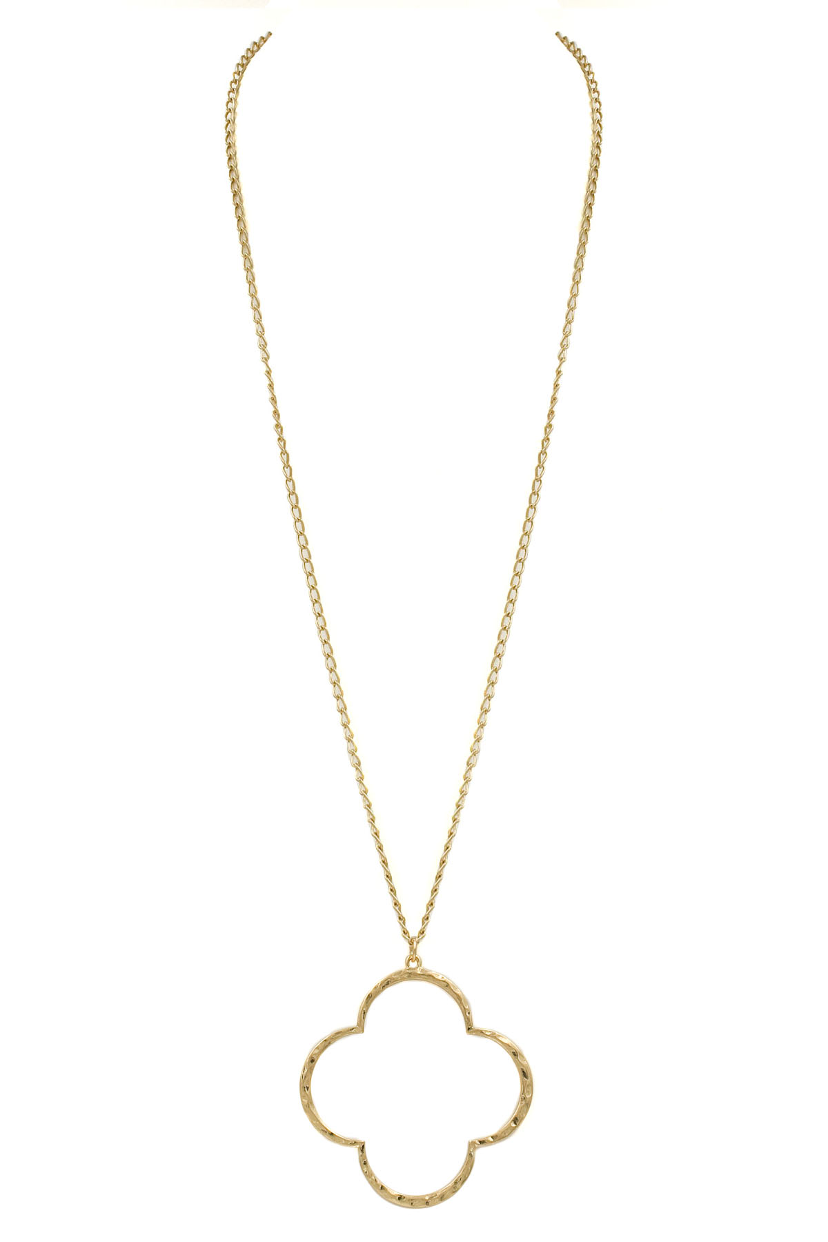 Quatrefoil Pendant Long Necklace