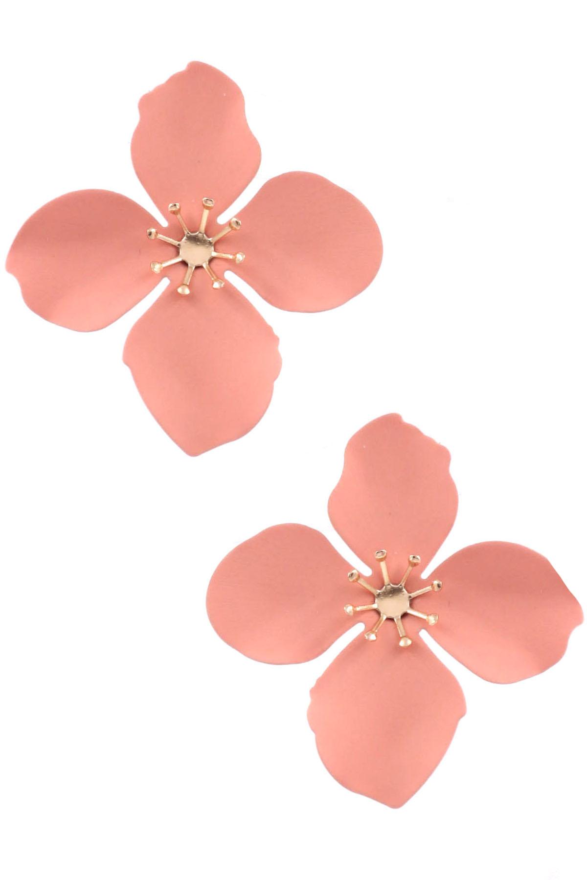 Matte Flower Earrings