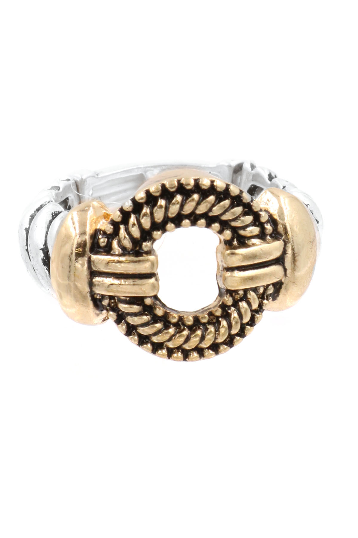 Textured Metal Stretch Ring - Rings