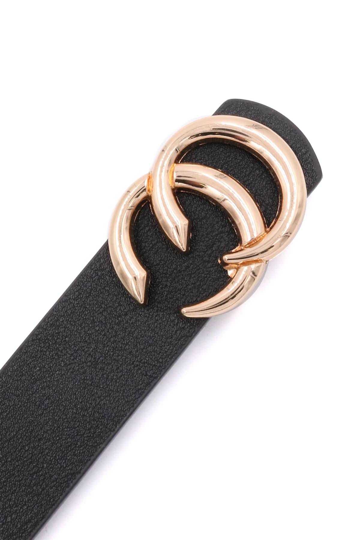 Double CC Buckle Belt - Belts