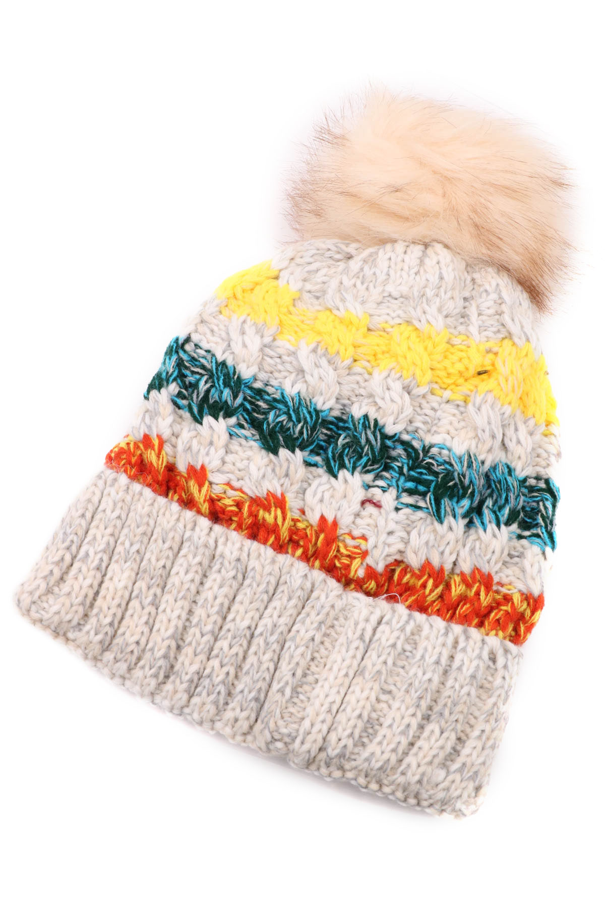 Knit Fur Beanie - Hats
