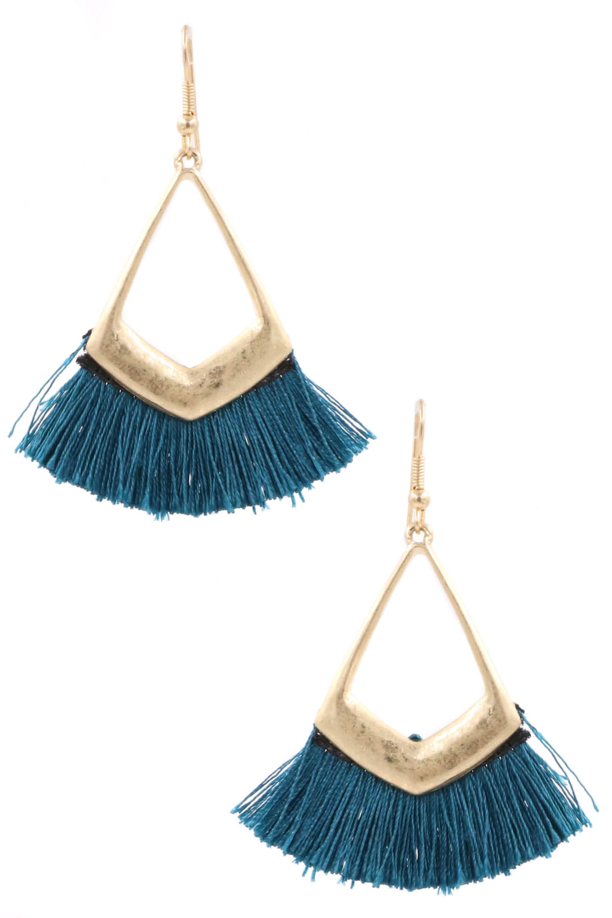 Cotton Fringe Earrings
