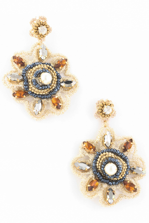 Laced Floral Earring