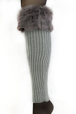 Knitted Fur Leg Warmers