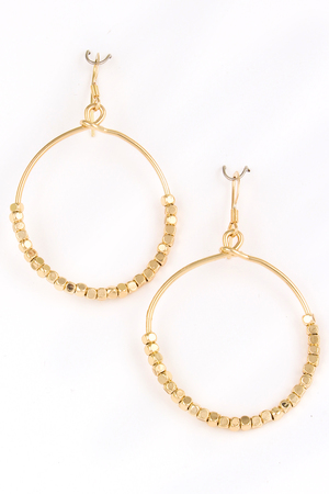 Seed Beads Circle Cutout Earring