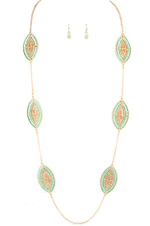 Filigree Beaded Necklace Set