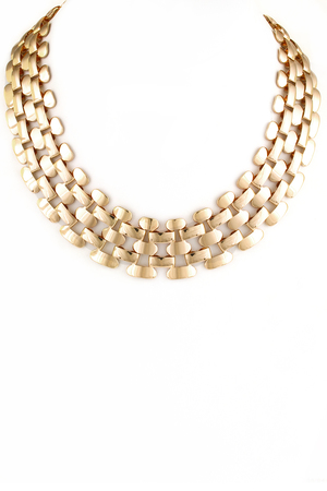 Metal Chain Link Mesh Necklace