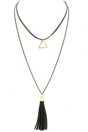 Layering Cord/Tassel Choker/Necklace