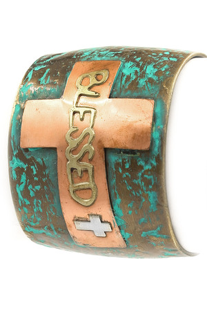\'BLESSED\' Cuff Bracelet
