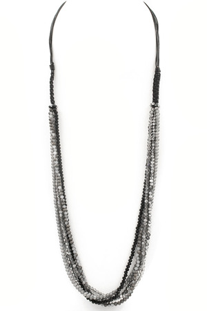 Layered Faceted Bead Necklace