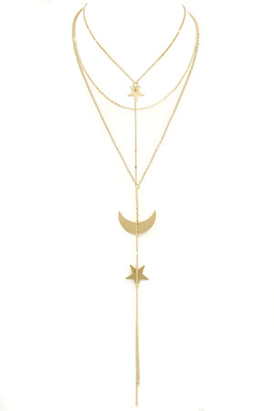 Star/Moon \'Y\' Drop Necklace