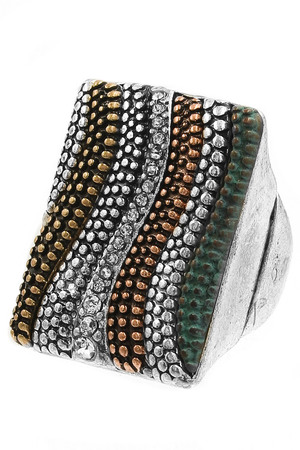 Textured Metal Stretch Ring