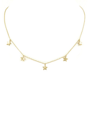 Metal Star Charm Necklace