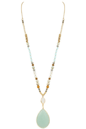 Mixed Bead Semi-Precious Stone Necklace