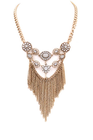 Floral Fringe Chain Necklace