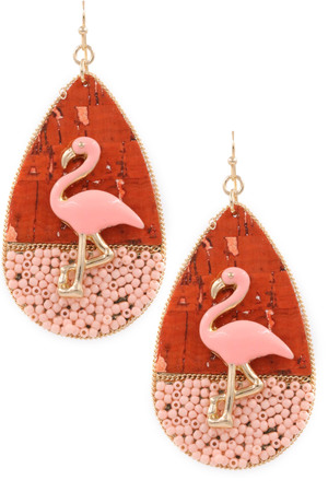 Flamingo Drop Earrings