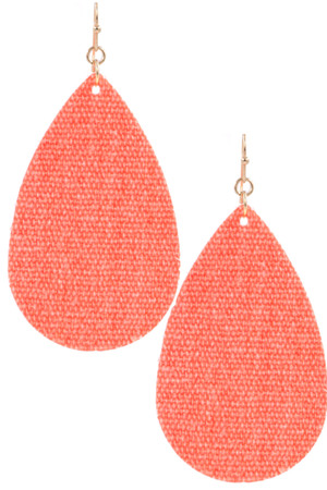 Fabric Drop Earrings