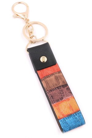 Faux Leather Key Chain